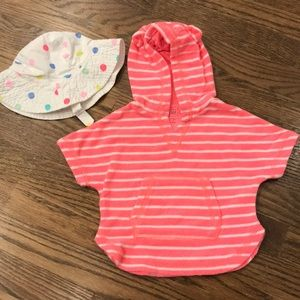 Gap cover up and carters sun hat